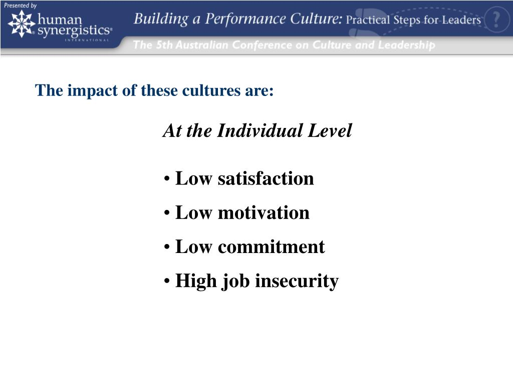 The impact of these cultures are: