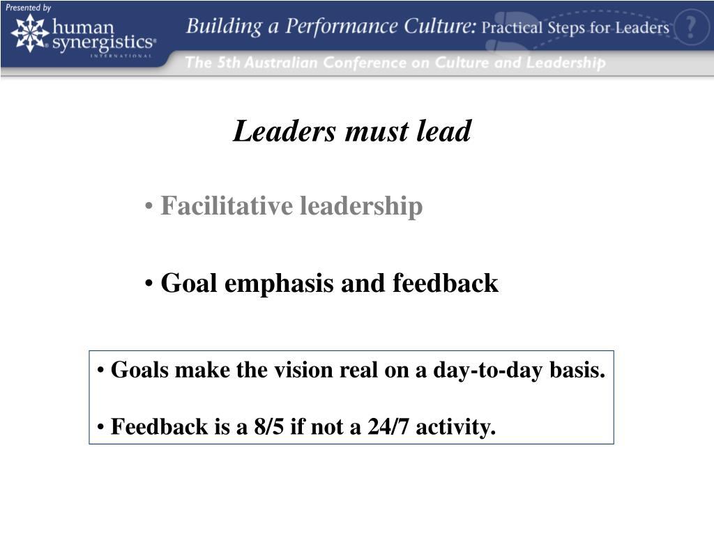 Leaders must lead