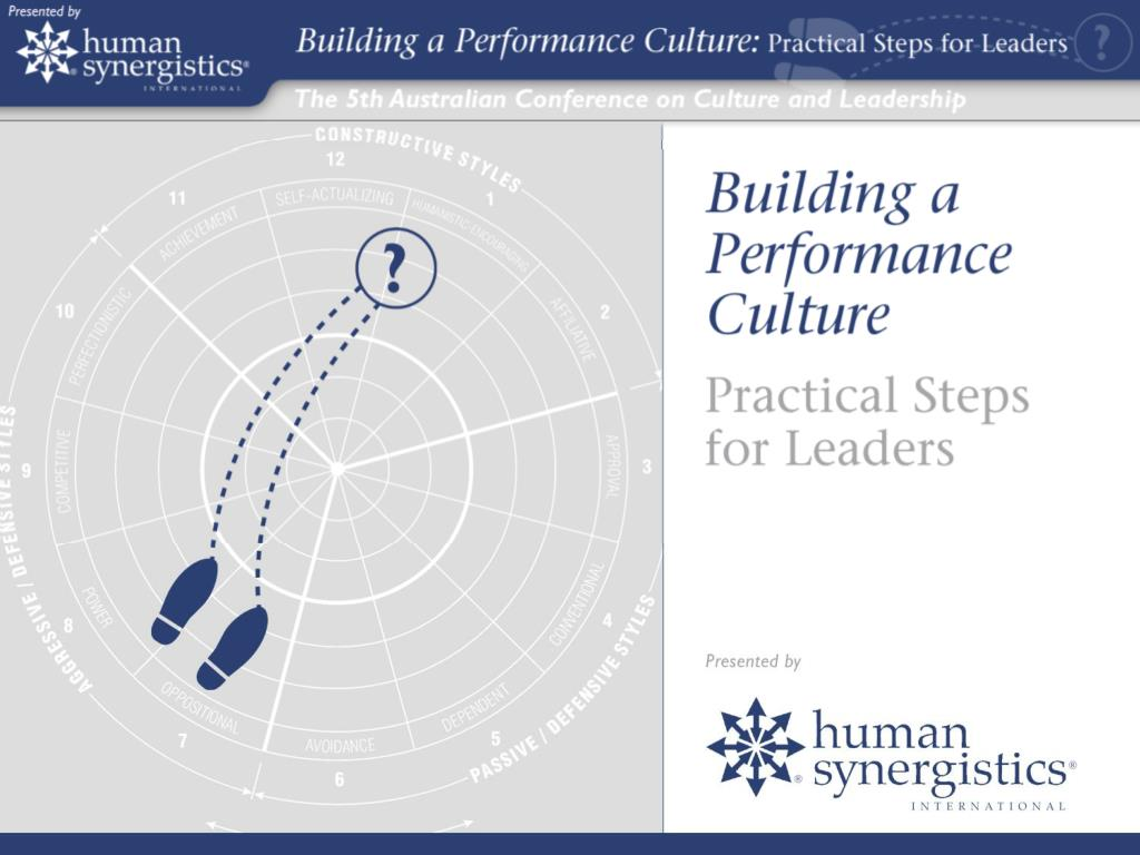 Building a Performance Culture: