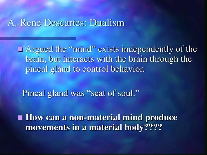 A. Rene Descartes: Dualism