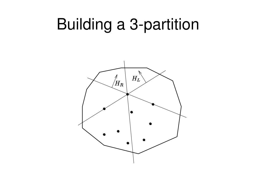 Building a 3-partition