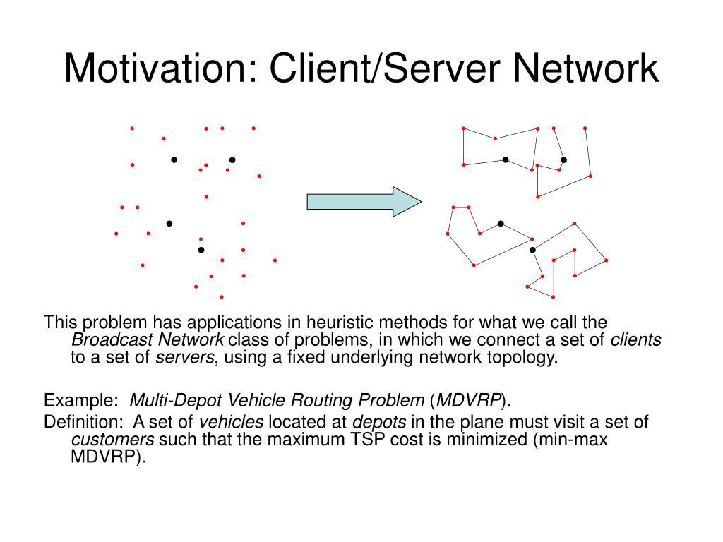 Motivation: Client/Server Network