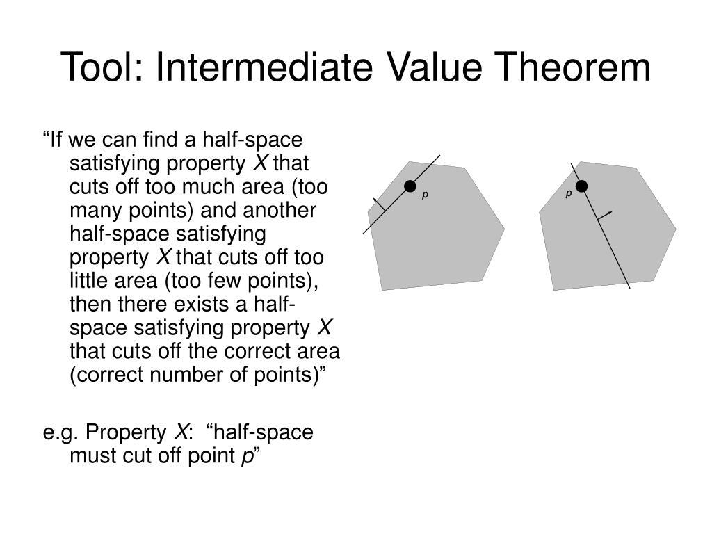 Tool: Intermediate Value Theorem