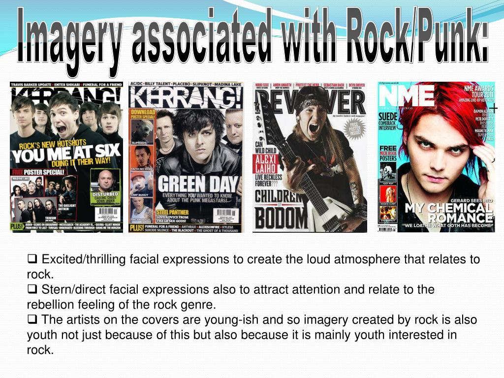 Imagery associated with Rock/Punk: