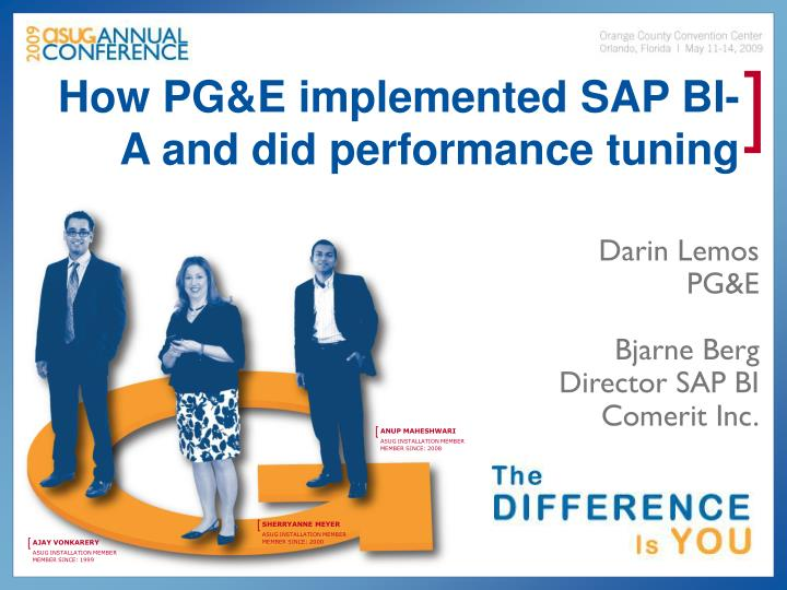 How pg e implemented sap bi a and did performance tuning l.jpg