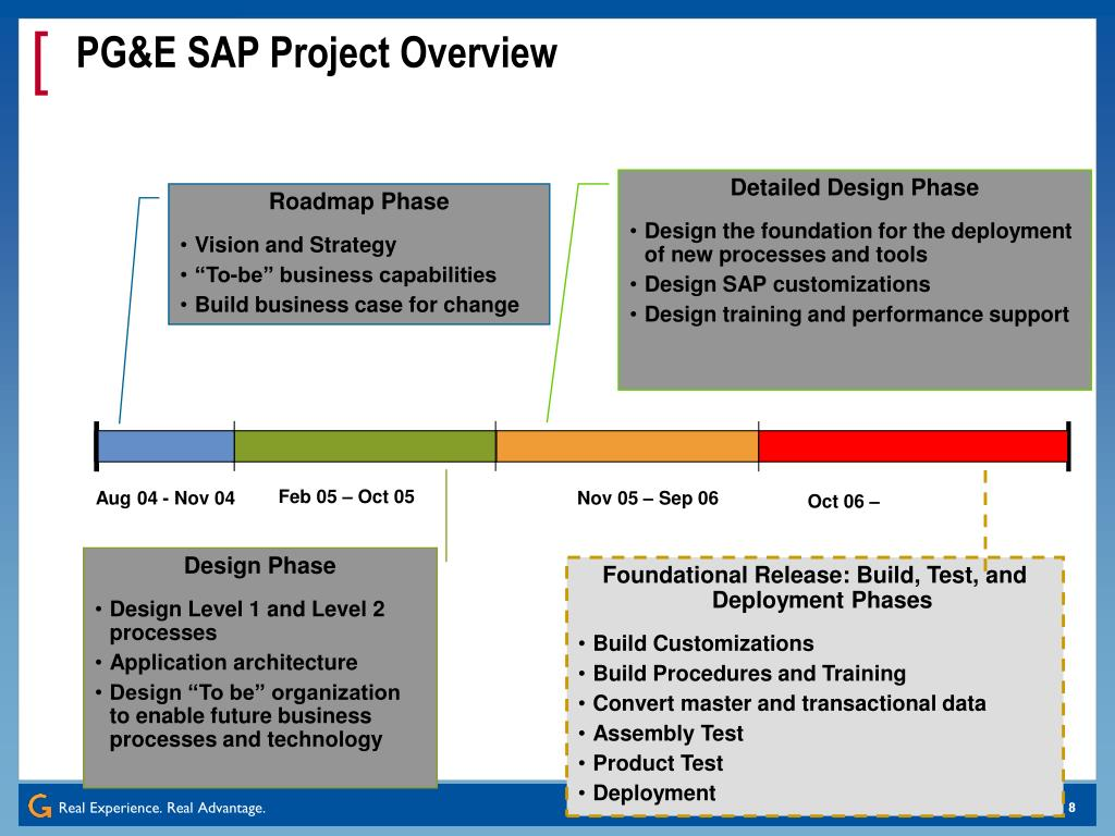 PG&E SAP Project Overview