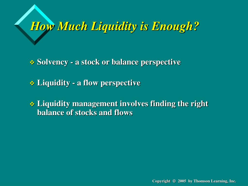 How Much Liquidity is Enough?