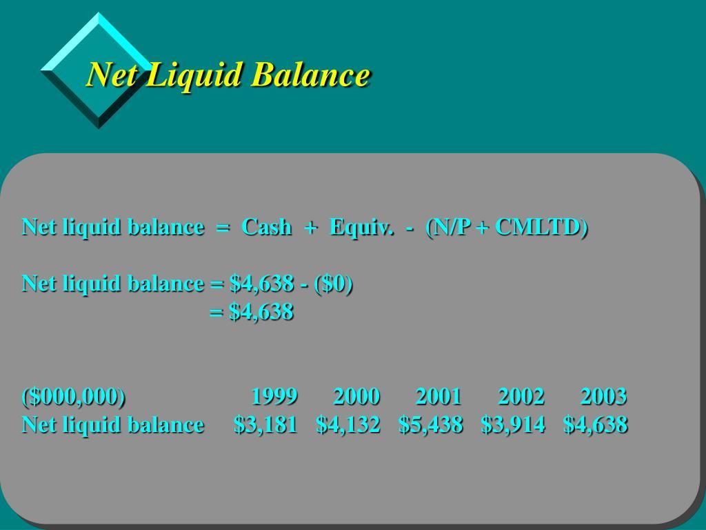 Net Liquid Balance