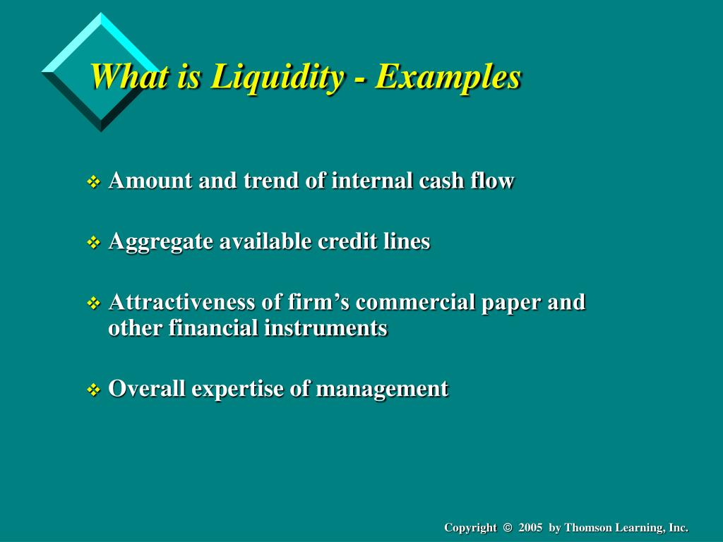 What is Liquidity - Examples