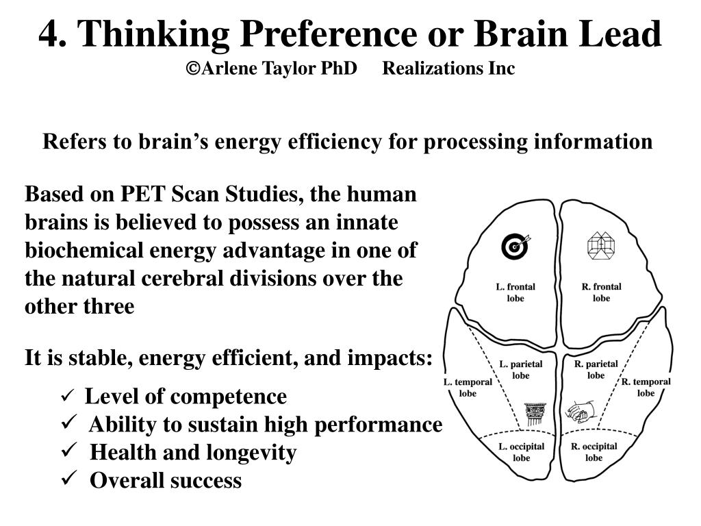 4. Thinking Preference or Brain Lead