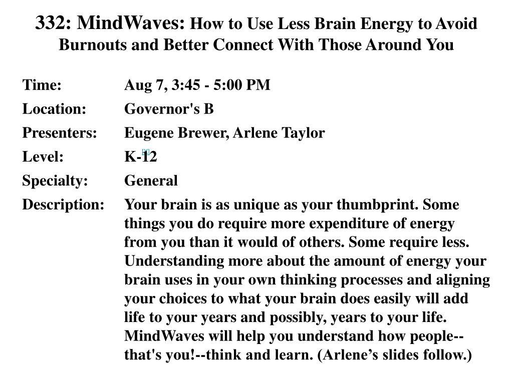 332: MindWaves: