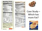 case study which has more fat