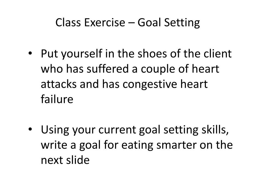 Class Exercise – Goal Setting