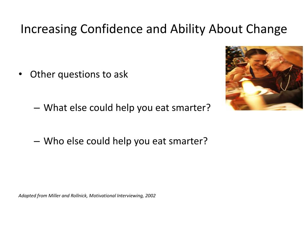 Increasing Confidence and Ability About Change