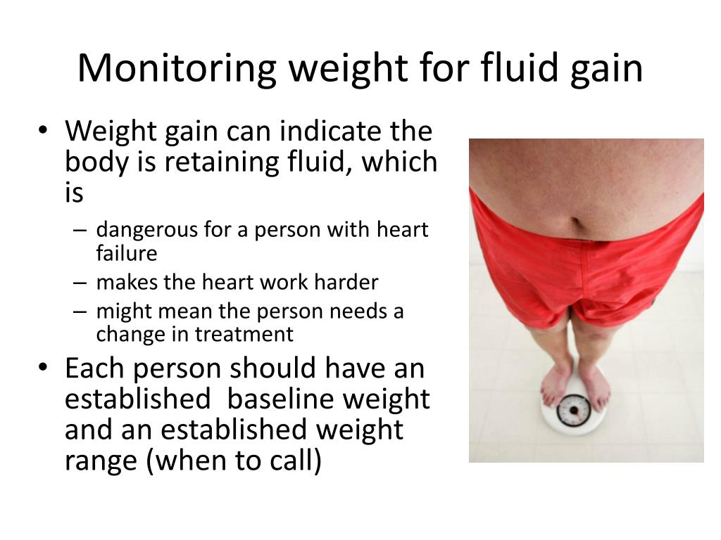 Monitoring weight for fluid gain