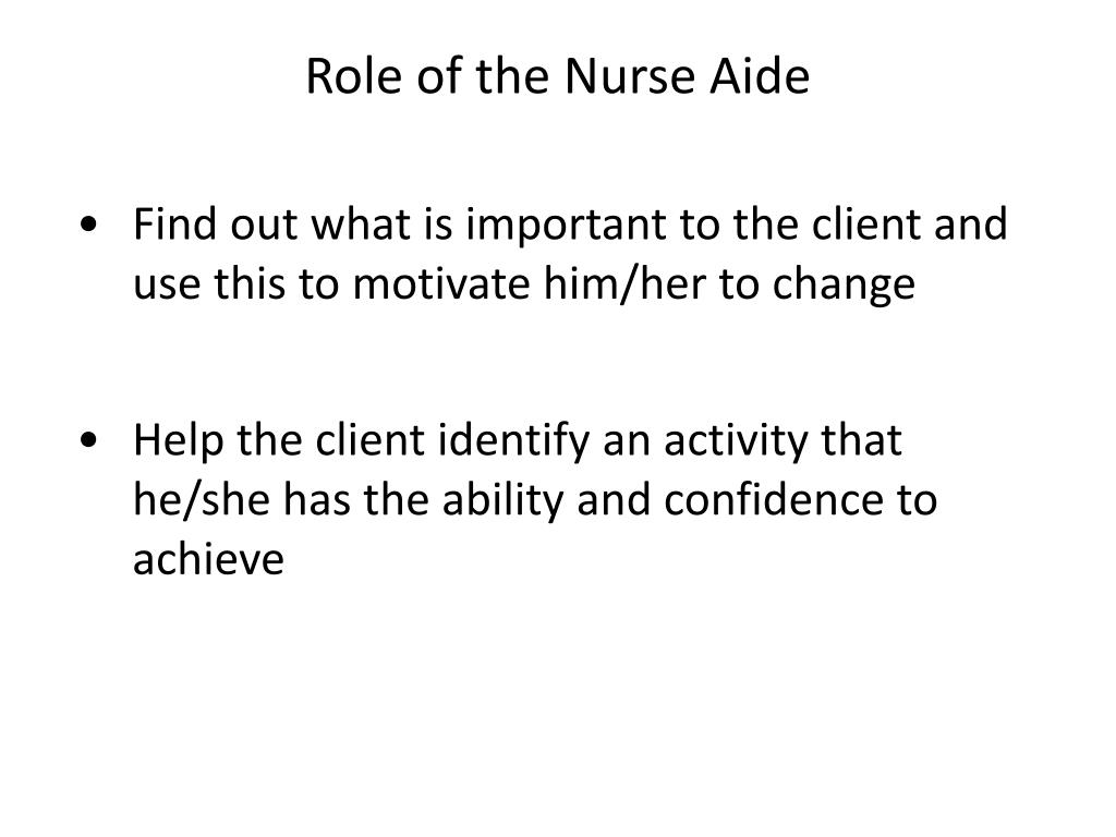 Role of the Nurse Aide