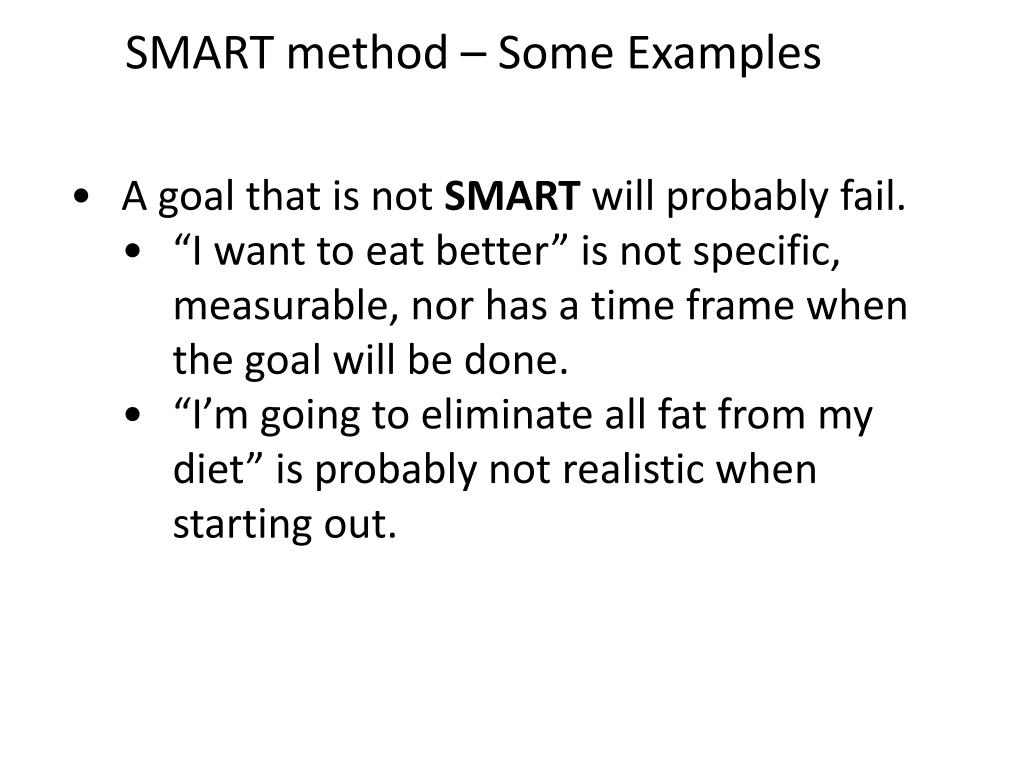 SMART method – Some Examples
