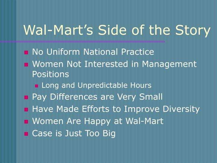 Wal-Mart's Side of the Story