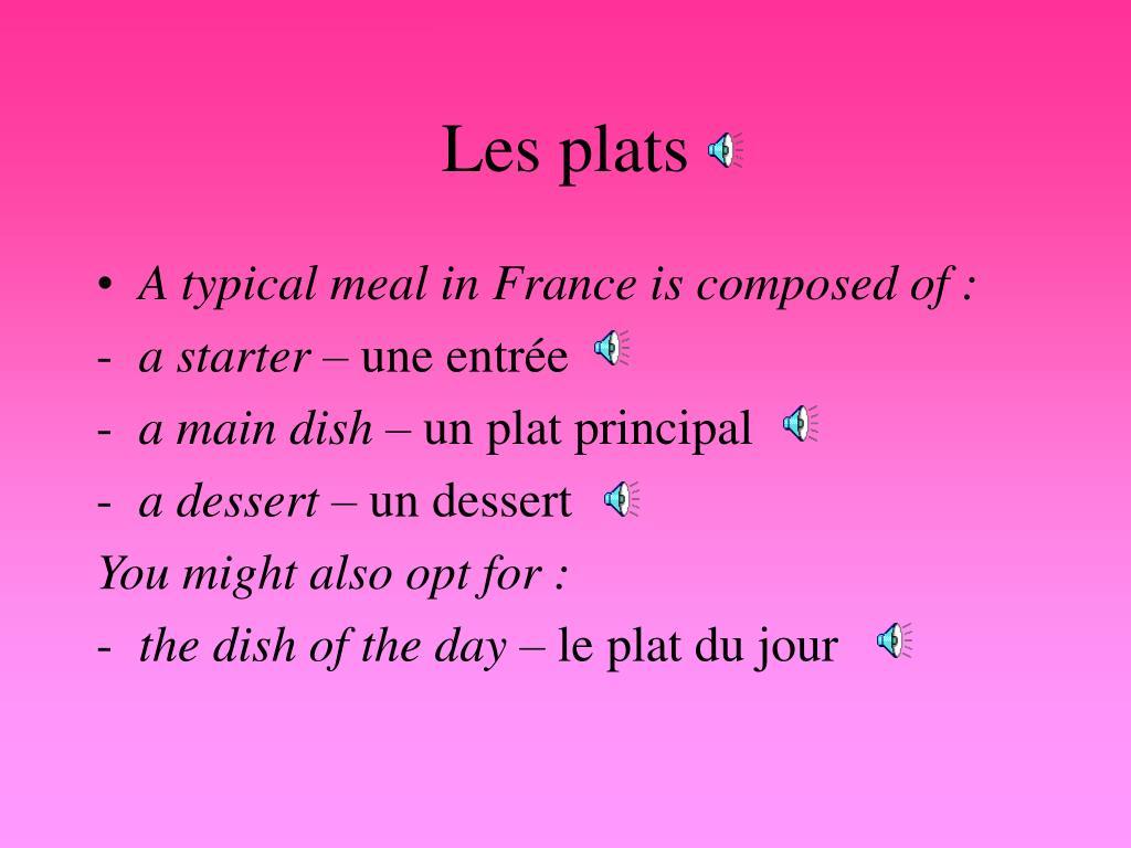 Les plats