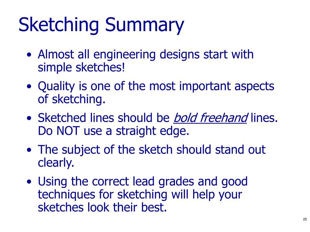 Sketching Summary