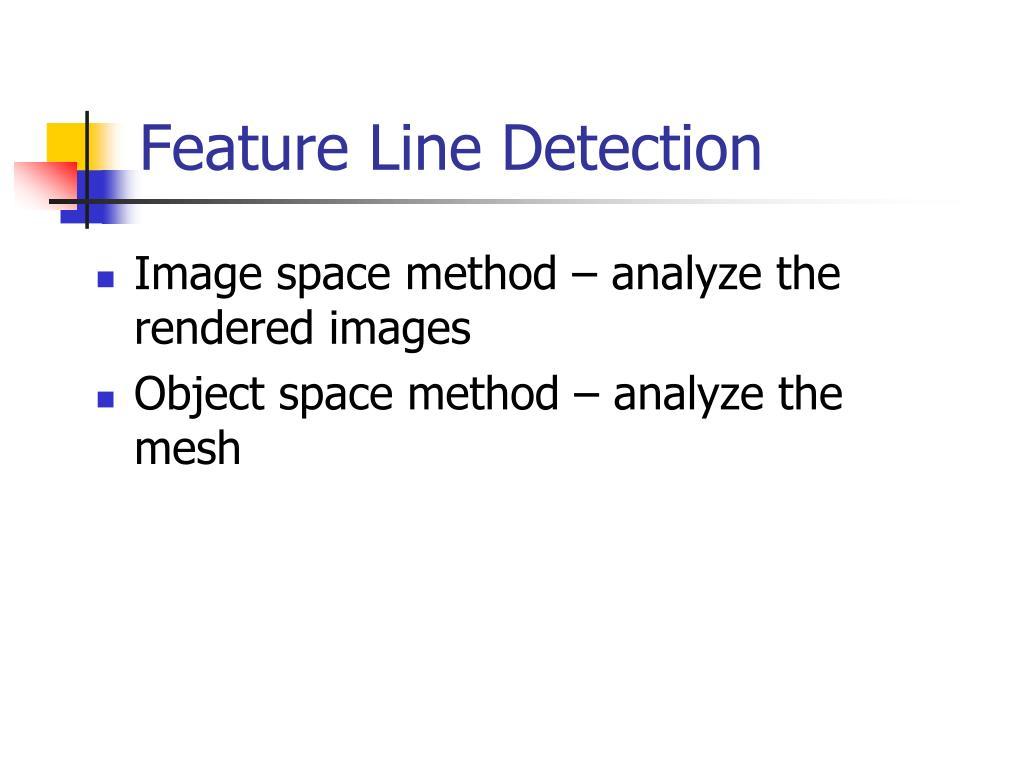 Feature Line Detection