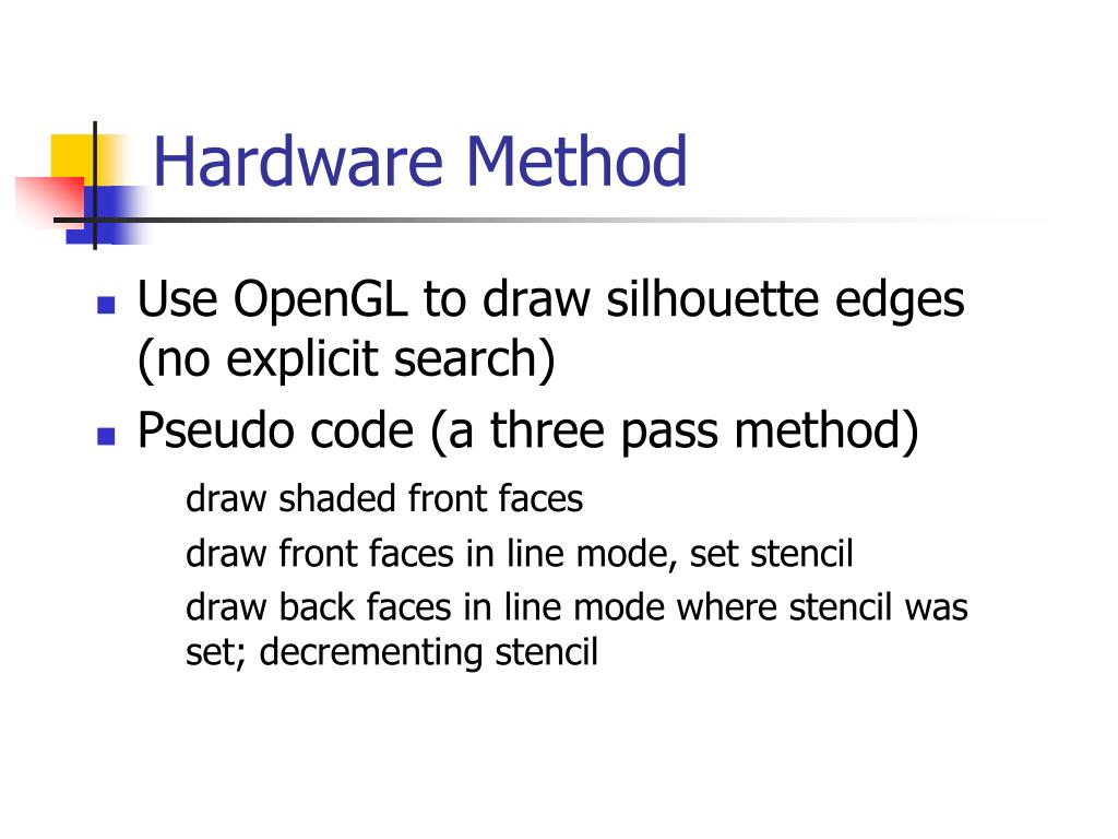 Hardware Method