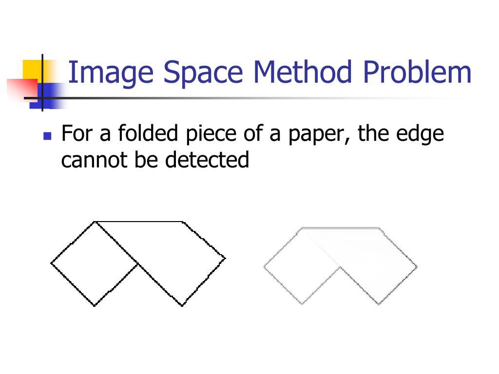 Image Space Method Problem