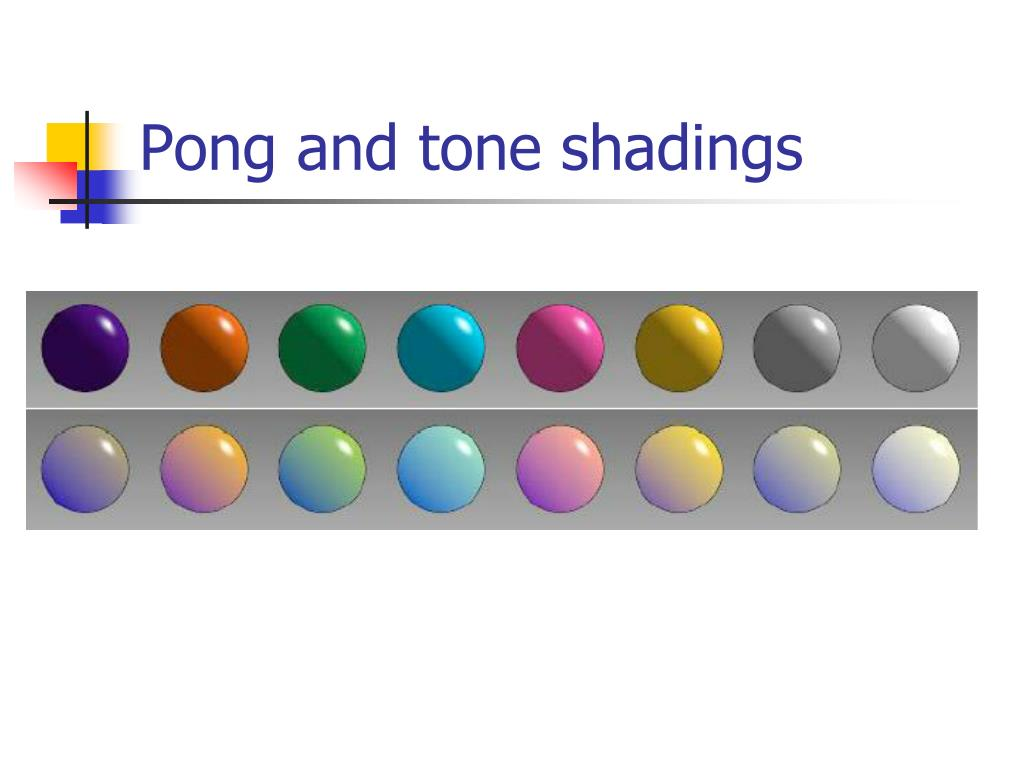 Pong and tone shadings