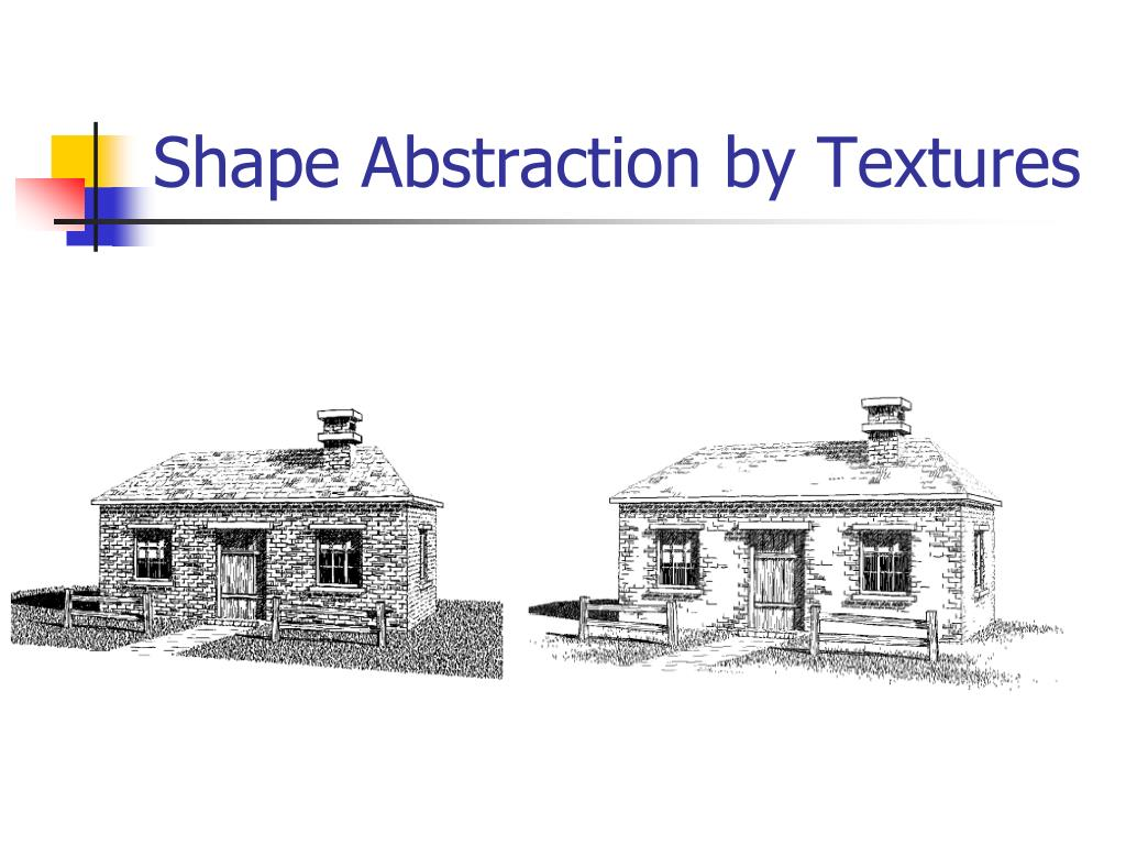 Shape Abstraction by Textures
