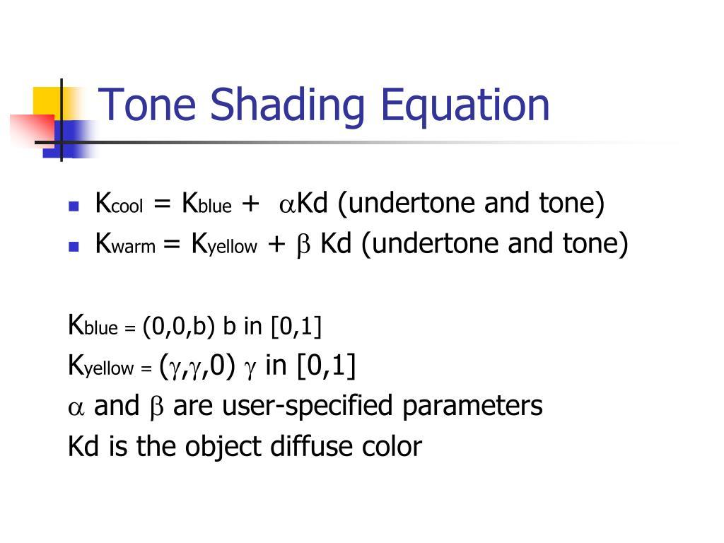 Tone Shading Equation