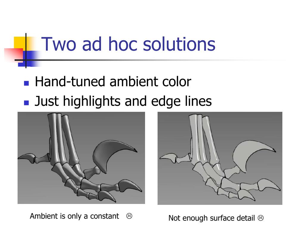 Two ad hoc solutions