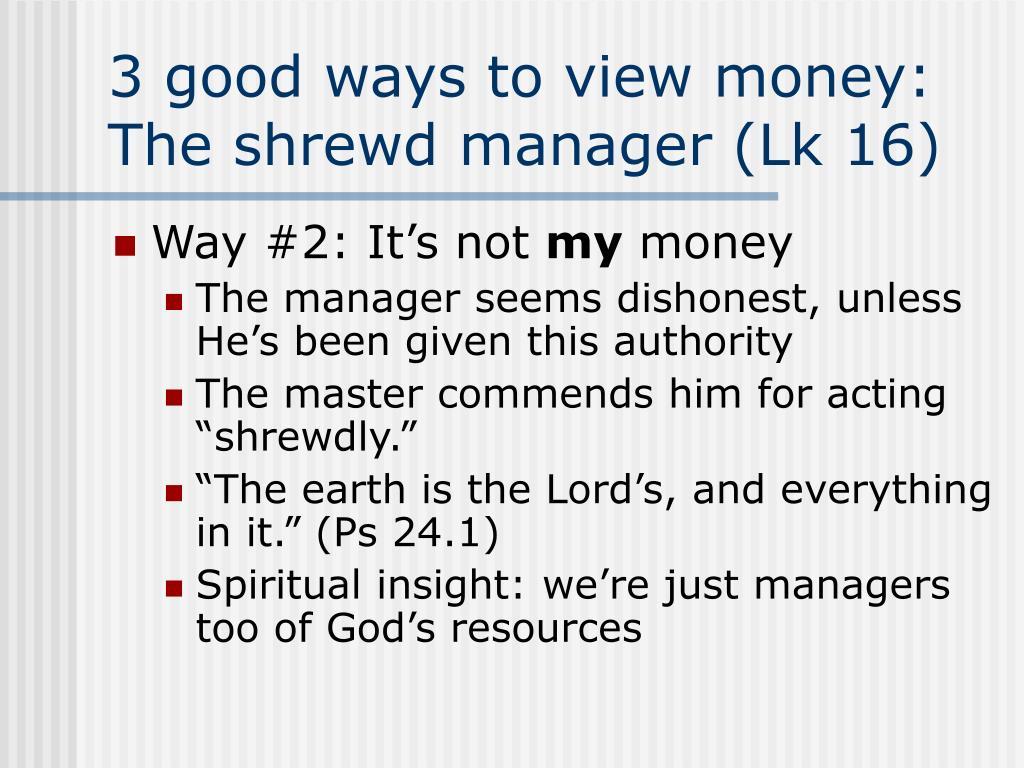 3 good ways to view money: