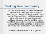 seeking true community