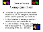 color schemes complementary