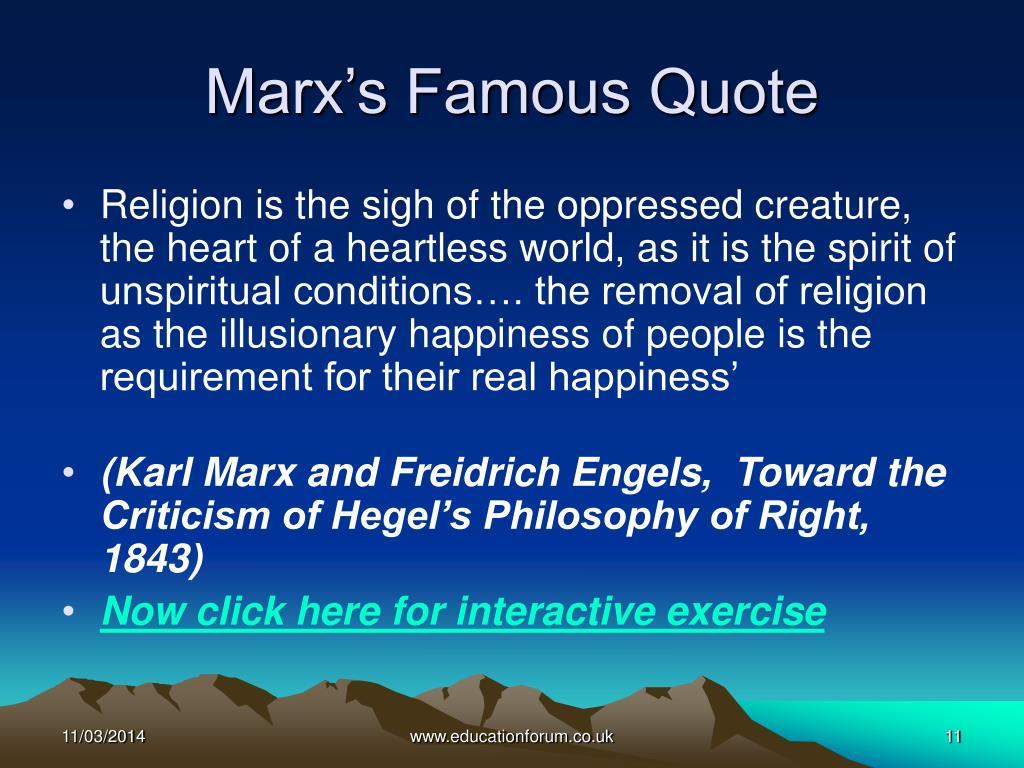 Marx's Famous Quote