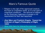 marx s famous quote