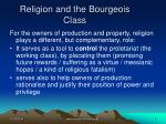 religion and the bourgeois class