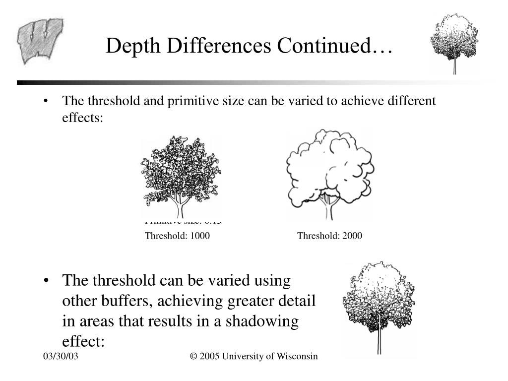 Depth Differences Continued…