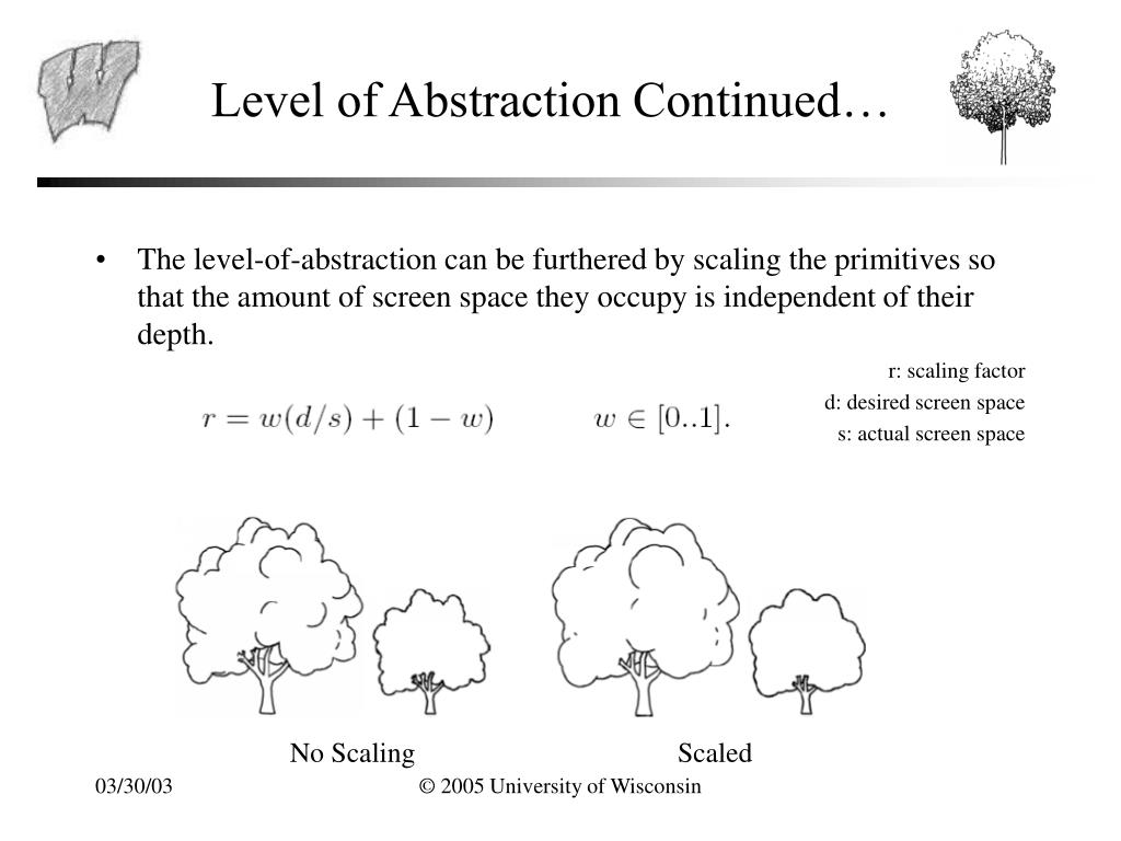 Level of Abstraction Continued…
