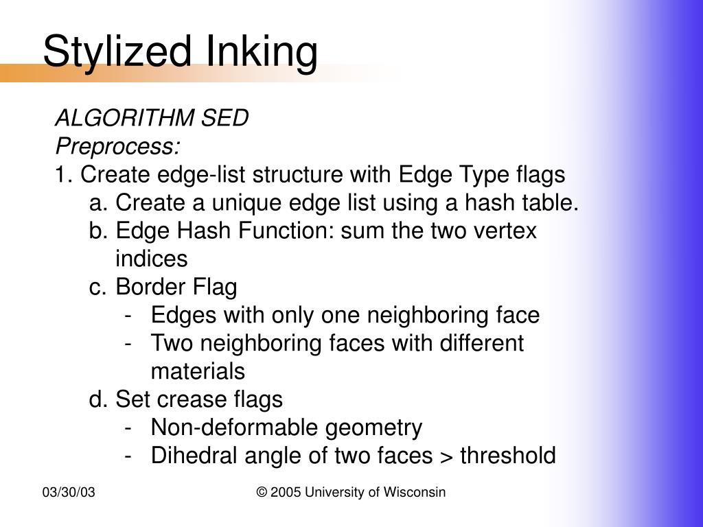 Stylized Inking