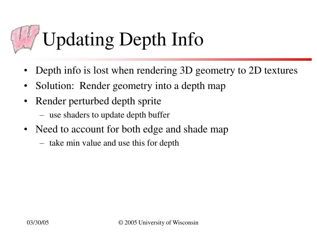 Updating Depth Info