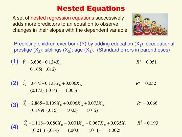 Nested Equations