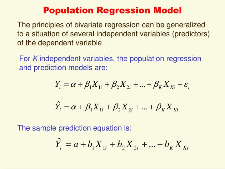 Population regression model
