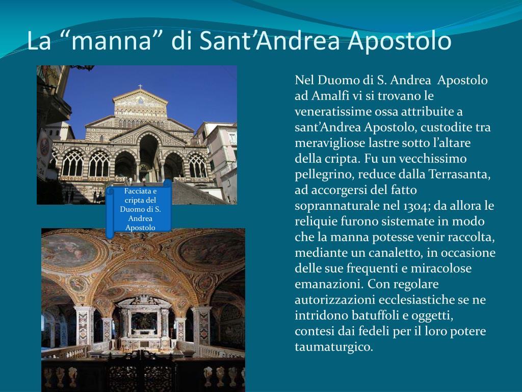 """La """"manna"""" di Sant'Andrea Apostolo"""