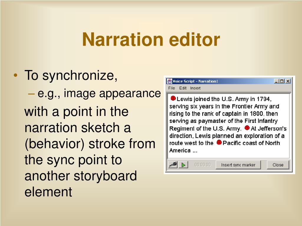 Narration editor