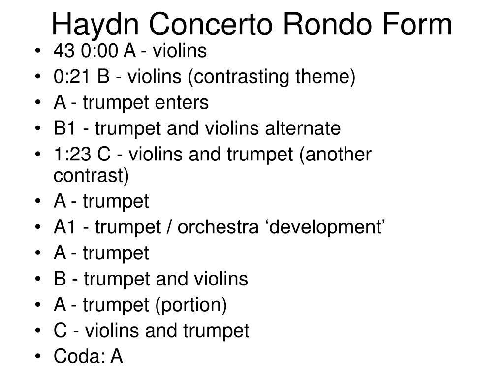 Haydn Concerto Rondo Form