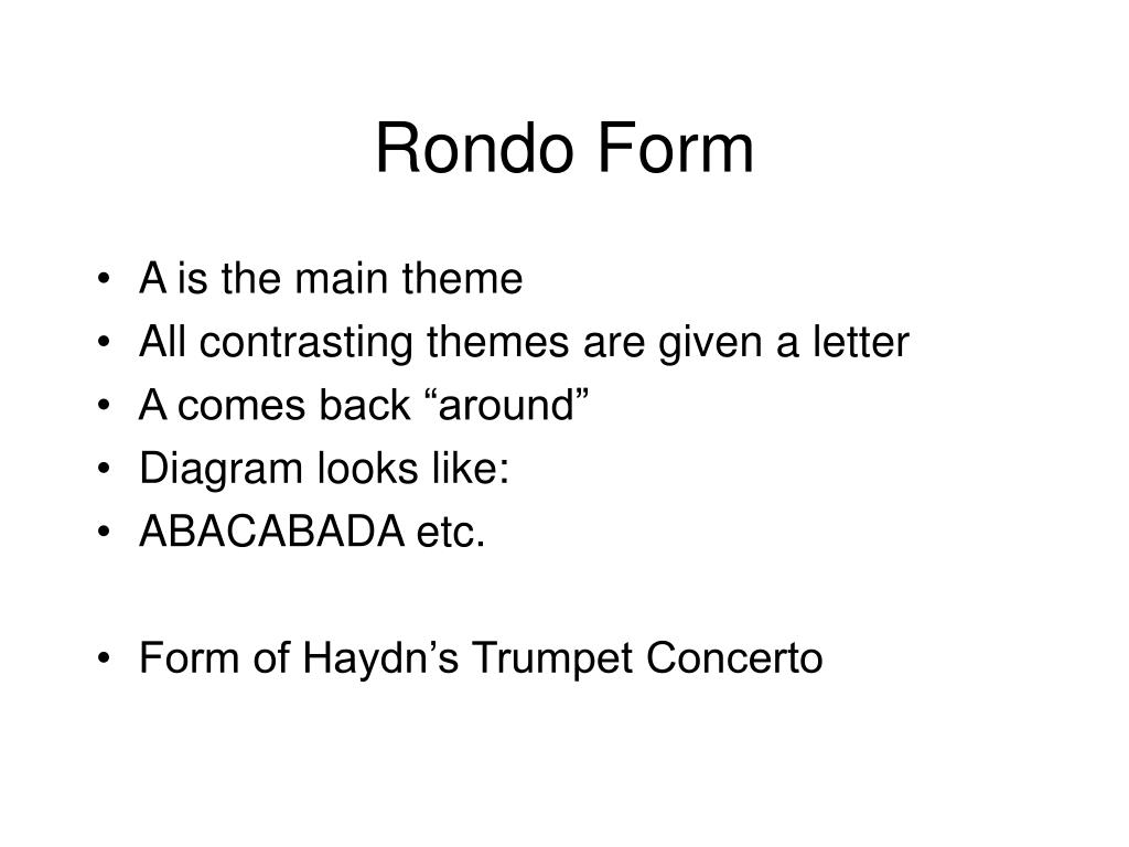 rondo form diagram 2009 kia rondo fuse diagram ppt - classical period powerpoint presentation - id:28027