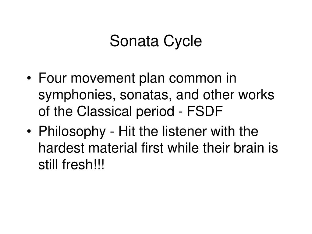 Sonata Cycle