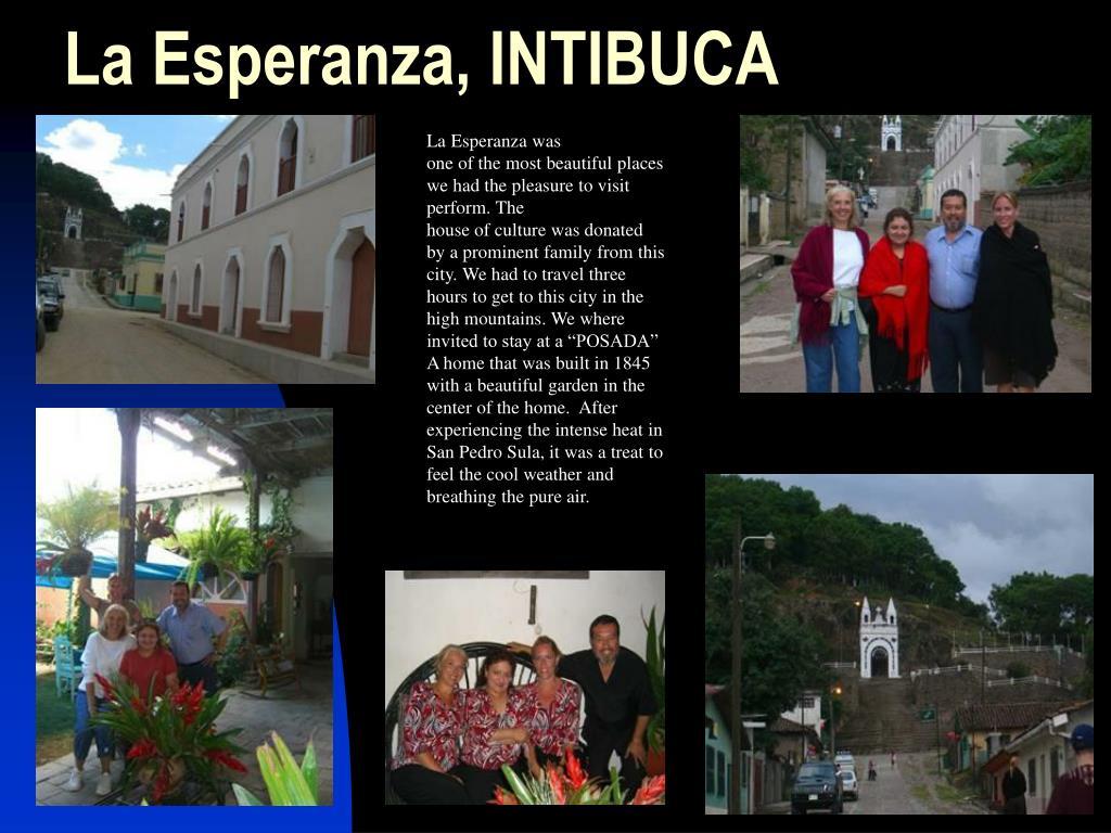 La Esperanza, INTIBUCA
