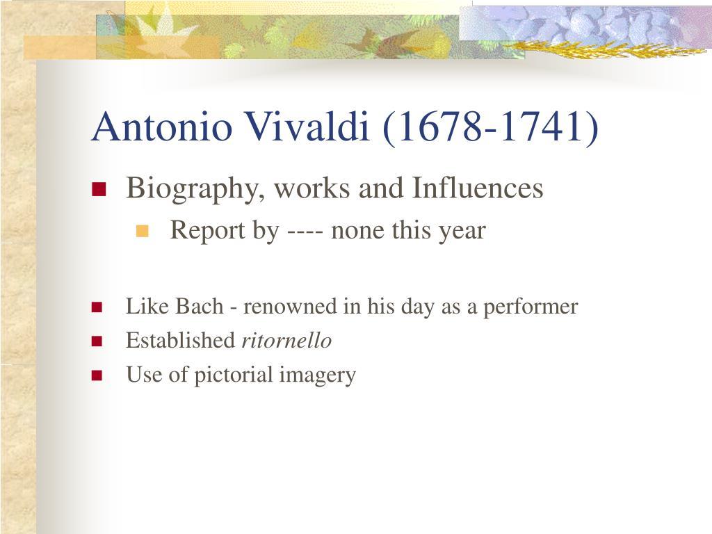 Antonio Vivaldi (1678-1741)